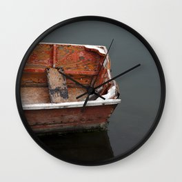 Red Dingy Wall Clock