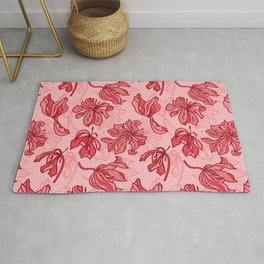 Abstract Tulips - Pink Rug