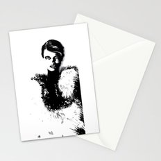 Glamor woman Stationery Cards