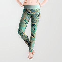 Gilded Emerald Enamel Leggings