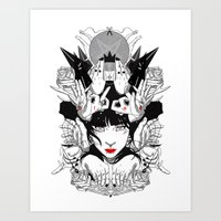 witchcraft Art Prints featuring Witchcraft by Sergio Saucedo