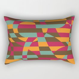 Abstract Graphic Art - Roller Coaster Rectangular Pillow