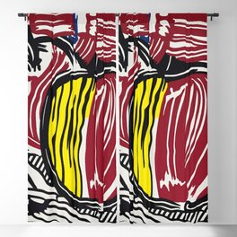 Roy Lichtenstein (1923-1977), Two Red and Yellow Apples, 1981. Blackout Curtain