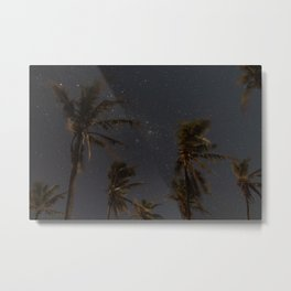 Milky Way Palm Trees Metal Print