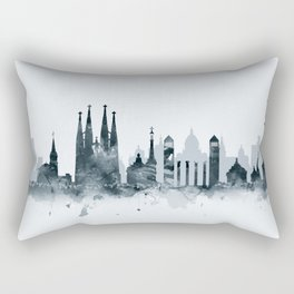 Barcelona Skyline Rectangular Pillow