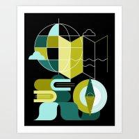 Geography Art Print