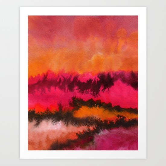 Watercolor abstract landscape 26 Art Print