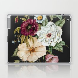 Colorful Wildflower Bouquet on Charcoal Black Laptop & iPad Skin