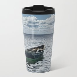 Maine Boat looking out to Sea Travel Mug