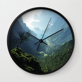 Highland Spring Wall Clock
