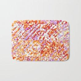 Orange & Lavender Delight - Squares Bath Mat