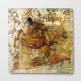 The departure of the Sicilian mailman Metal Print