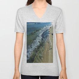Sandy Shoreline Unisex V-Neck