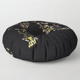leaves in the moonlight Floor Pillow