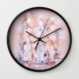 Flower Puffs Wall Clock