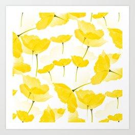Light Yellow Poppies Spring Summer Mood #decor #society6 #buyart Art Print