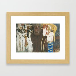 Beethoven Frieze Gustav Klimt Framed Art Print