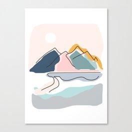 Minimalistic Landscape Canvas Print