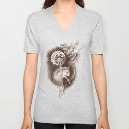 Step 1  Close your eyes - step 2 Make a Wish - step 3 Blow Unisex V-Neck
