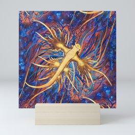 Neon Nautical Bouquet Mini Art Print