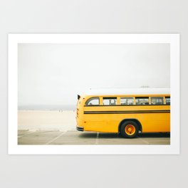 Santa Monica School Bus Art Print