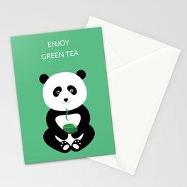 Enjoy green tea Stationery Cards