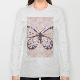 butterfly/motives/colorful/pattern/oldie Long Sleeve T-shirt