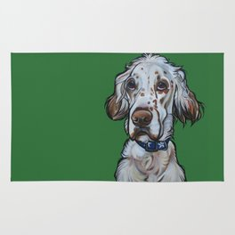 Ollie the English Setter Rug