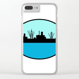 World War Two Attack Cargo Ship Retro Clear iPhone Case