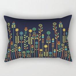 Overgrown flowers Rectangular Pillow