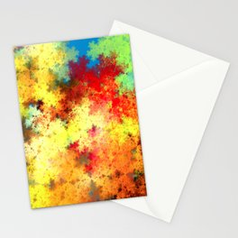 abstract background composed of fractal shapes and colors on intense color, design for posters backg Stationery Cards