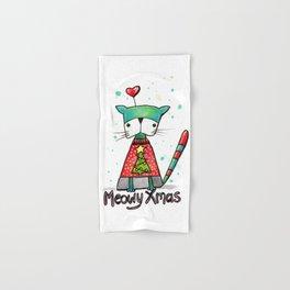 Meowy Xmas Hand & Bath Towel