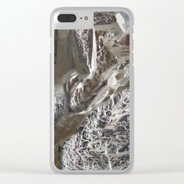 Silver Crystal First Clear iPhone Case