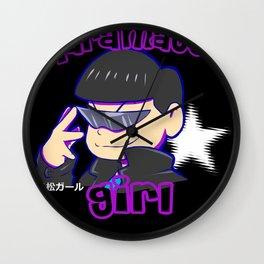 Karamatsu girl black Wall Clock