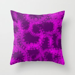 Spring pastel gentle purple circles and ellipses depicting abstract flowers. Throw Pillow