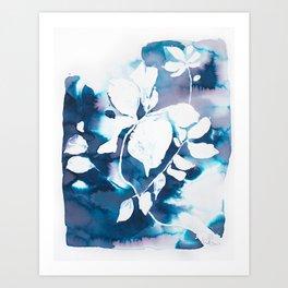 Indigo Blue Botanical Art Print