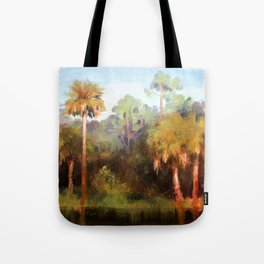Moonrise over the Palms Tote Bag