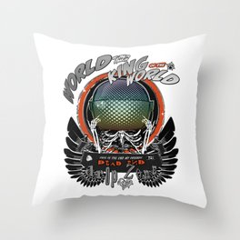 The Black Wings of the King of the World Throw Pillow