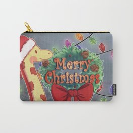 Giraffe Christmas Carry-All Pouch