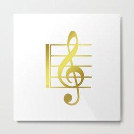 Musical symbol | music clef gift idea Metal Print