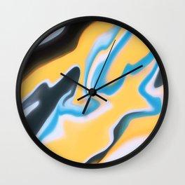 Yellow Yell Wall Clock