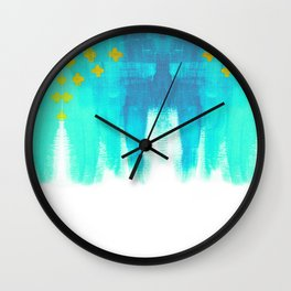 On the Plus Side (blue)  Wall Clock