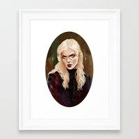 warrior Framed Art Prints featuring Warrior by Feline Zegers