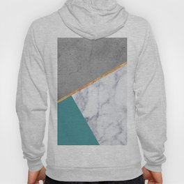MARBLE TEAL GOLD GRAY GEOMETRIC Hoody