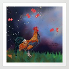 Year of the Rooster (part 1) Art Print