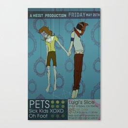 Pets Poster Canvas Print