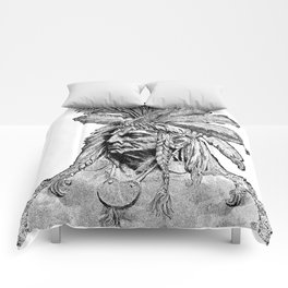 Chief / Vintage illustration redrawn and repurposed Comforters