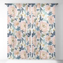BIG NEWS Bold Floral Sheer Curtain