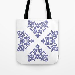'Love 04' - Heart of lace in blue Tote Bag