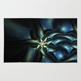 Surreal floral fractal Rug